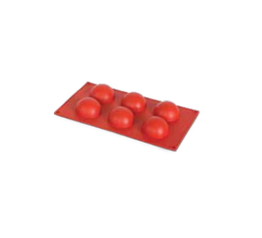 Half Sphere Silicone Mould – 6 Pcs