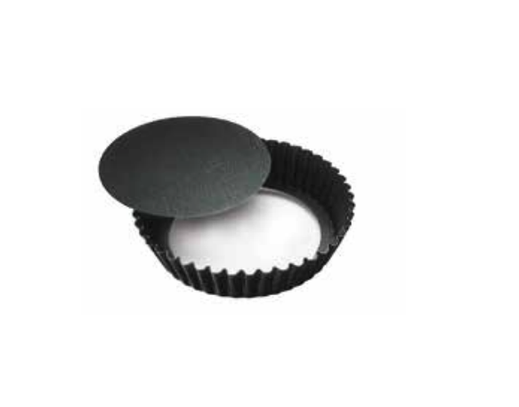 Round Flutted Mould With Loose Bottom